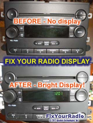 Radio Repairs - including Blank Radio Display (Ford & Nissan