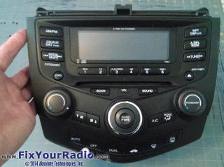 2004 honda accord radio display fix. Black Bedroom Furniture Sets. Home Design Ideas